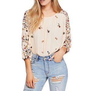 Free People wild flowers blouse NWT